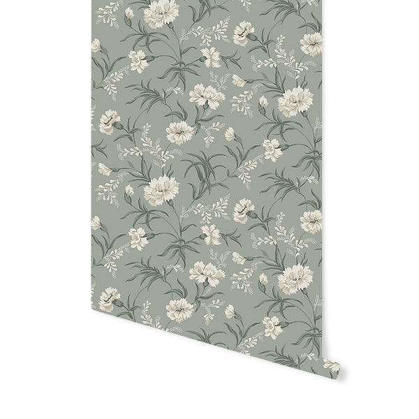 Emilie Wallpaper in Garden Green
