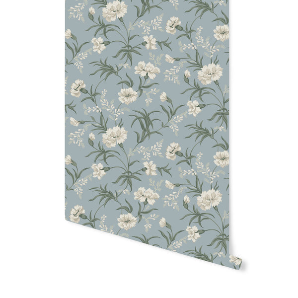 Emilie Wallpaper in Sky Blue