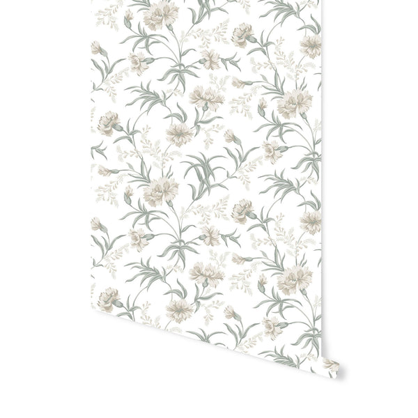 Emilie Wallpaper in Spring Green