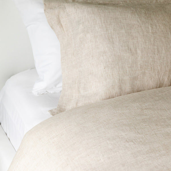 Hannah Linen Duvet Cover in Oatmeal
