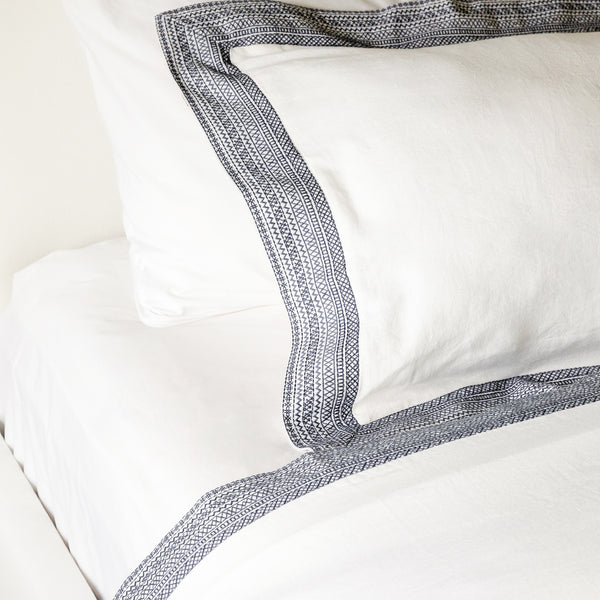 Paloma Duvet Cover in Navy