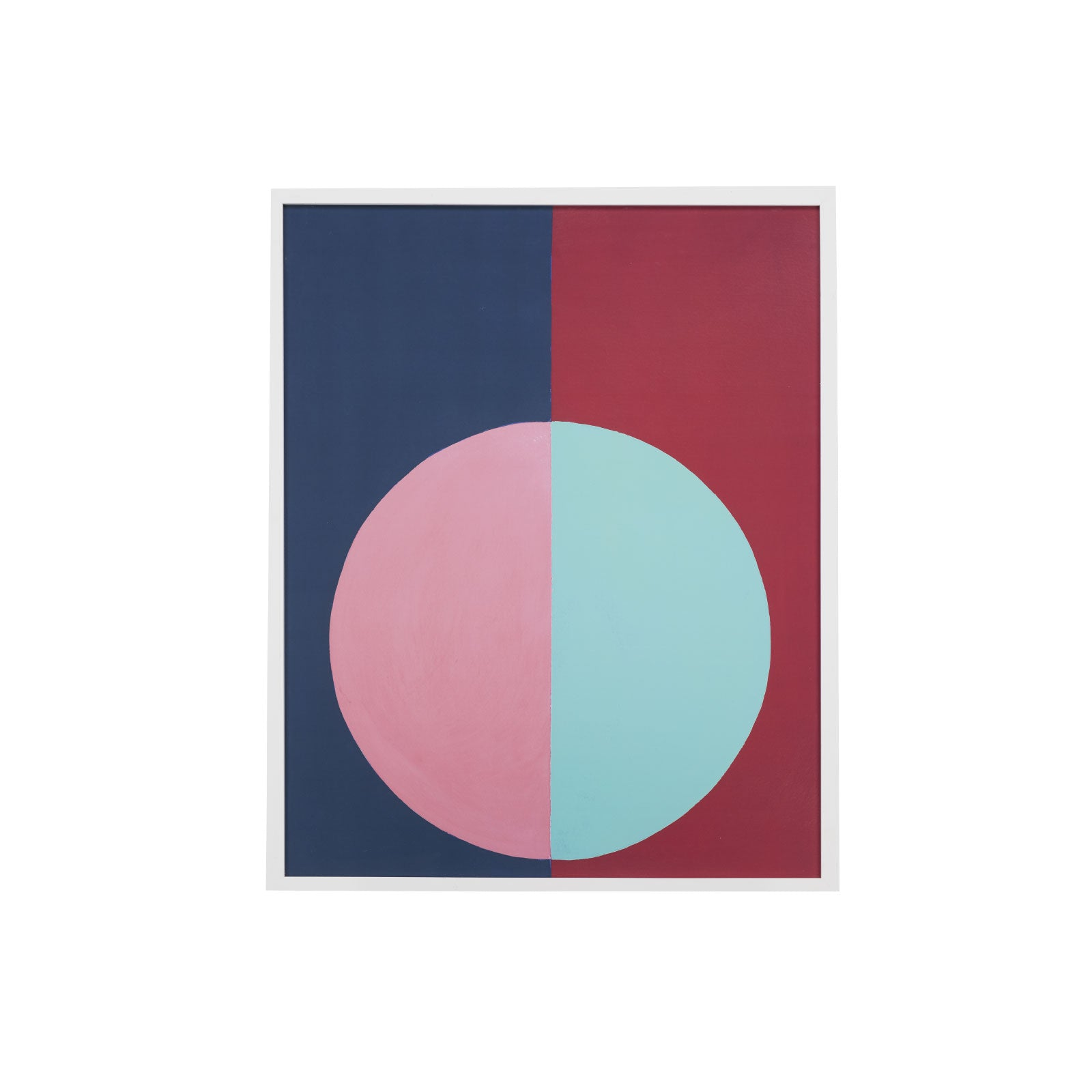 Framed Colorblock Circle Art