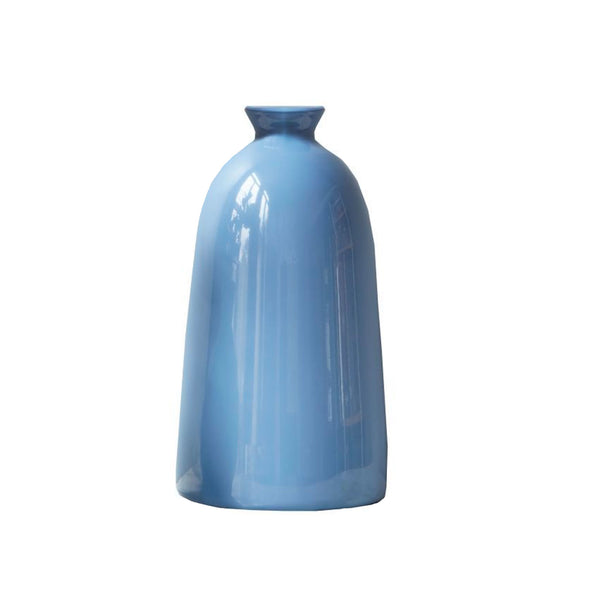 Large Handmade French Blue Vase