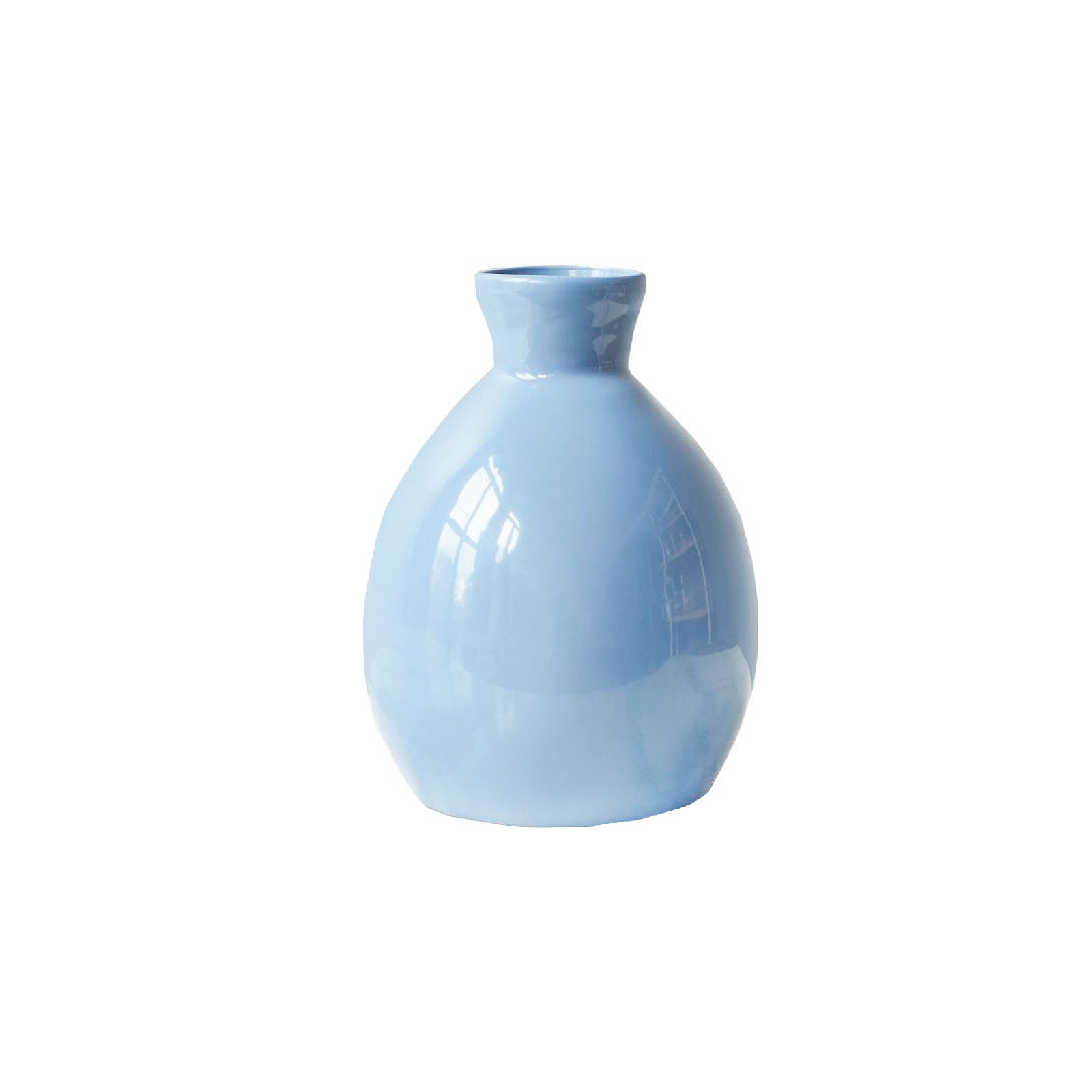 Small Handmade French Blue Vase