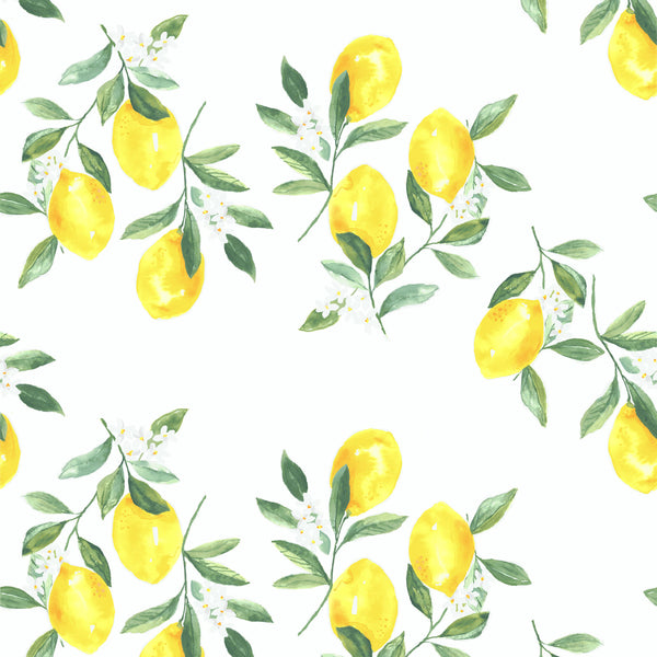 Fresh Squeezed Wallpaper in White