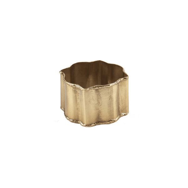 Geometric Brass Napkin Ring