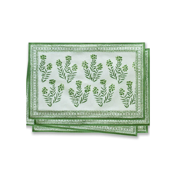 Green Floral Placemats