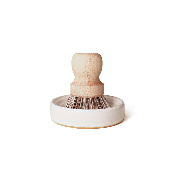 Handmade Glazed Pot Brush Set