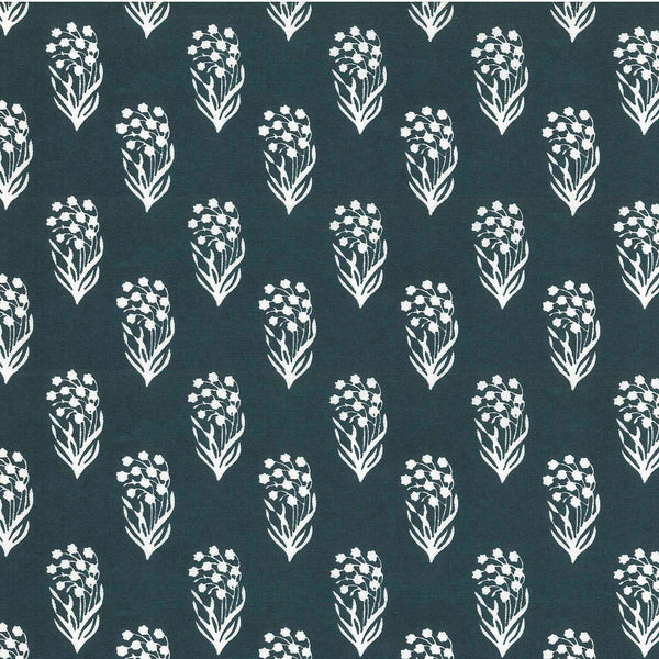 Highland Floral Fabric in Navy
