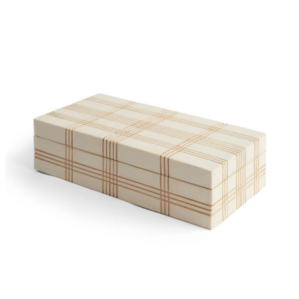 Ivory Plaid Box