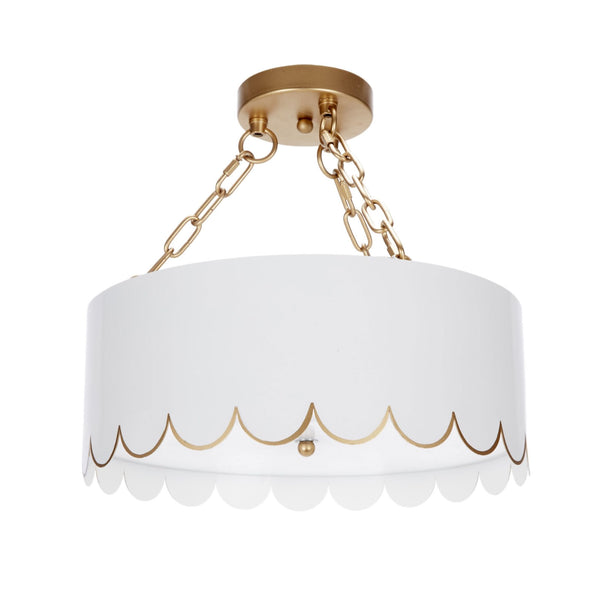 Jane Semi-Flush Mount in White