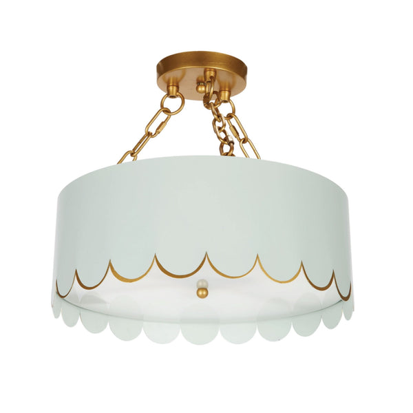 Jane Semi-Flush Mount in Blue