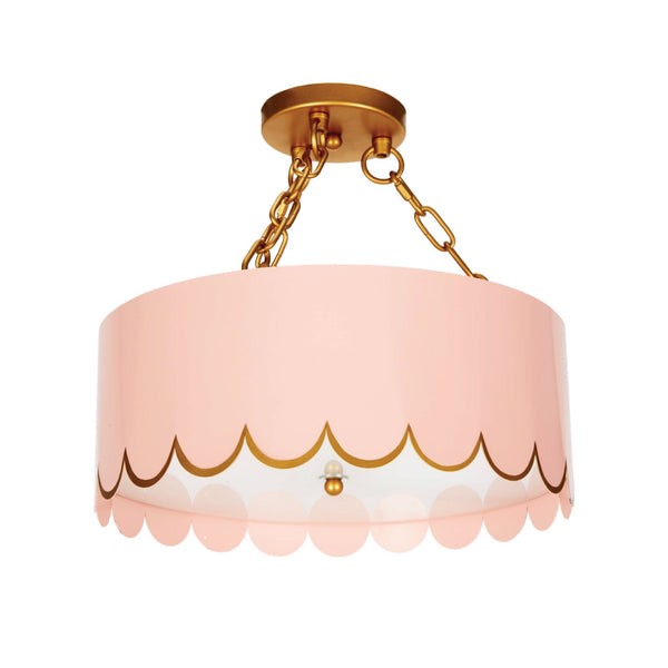Jane Semi-Flush Mount in Pink