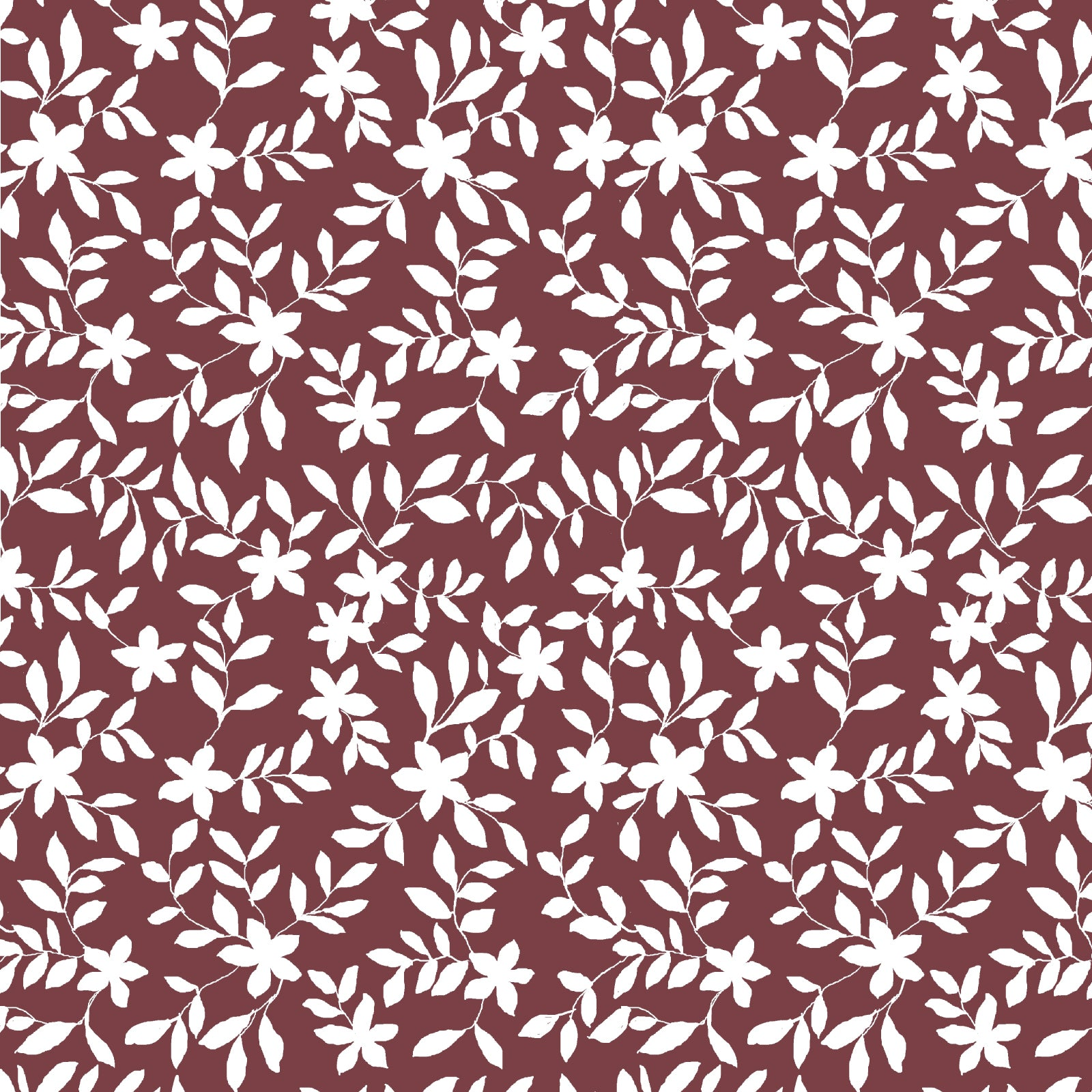 Jo Floral Fabric in Ruby