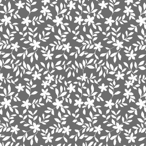 Jo Floral Fabric in Charcoal