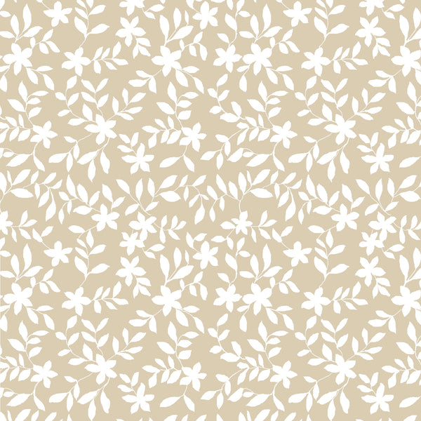 Jo Floral Fabric in Natural