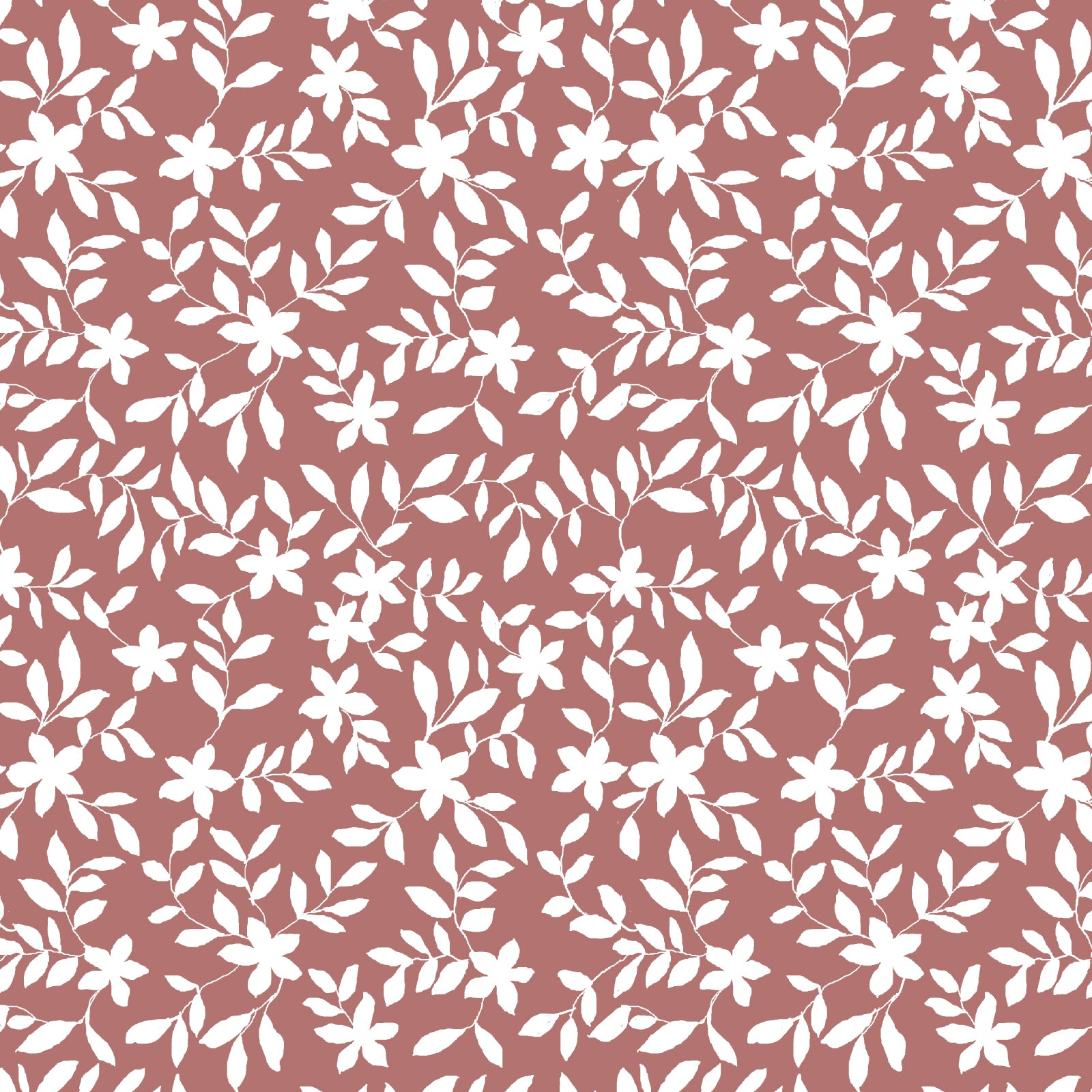 Jo Floral Fabric in Rose