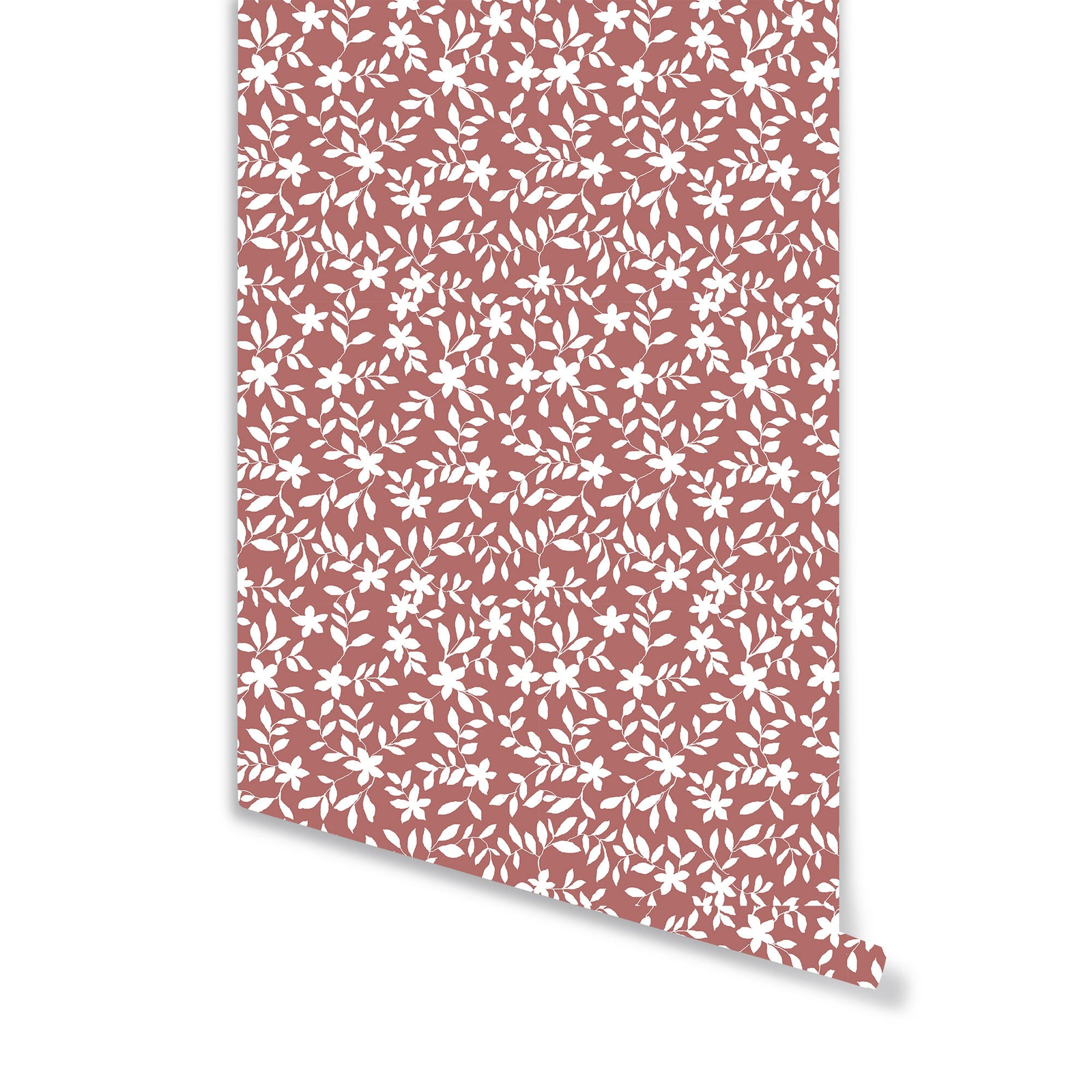 Jo Floral Wallpaper in Rose