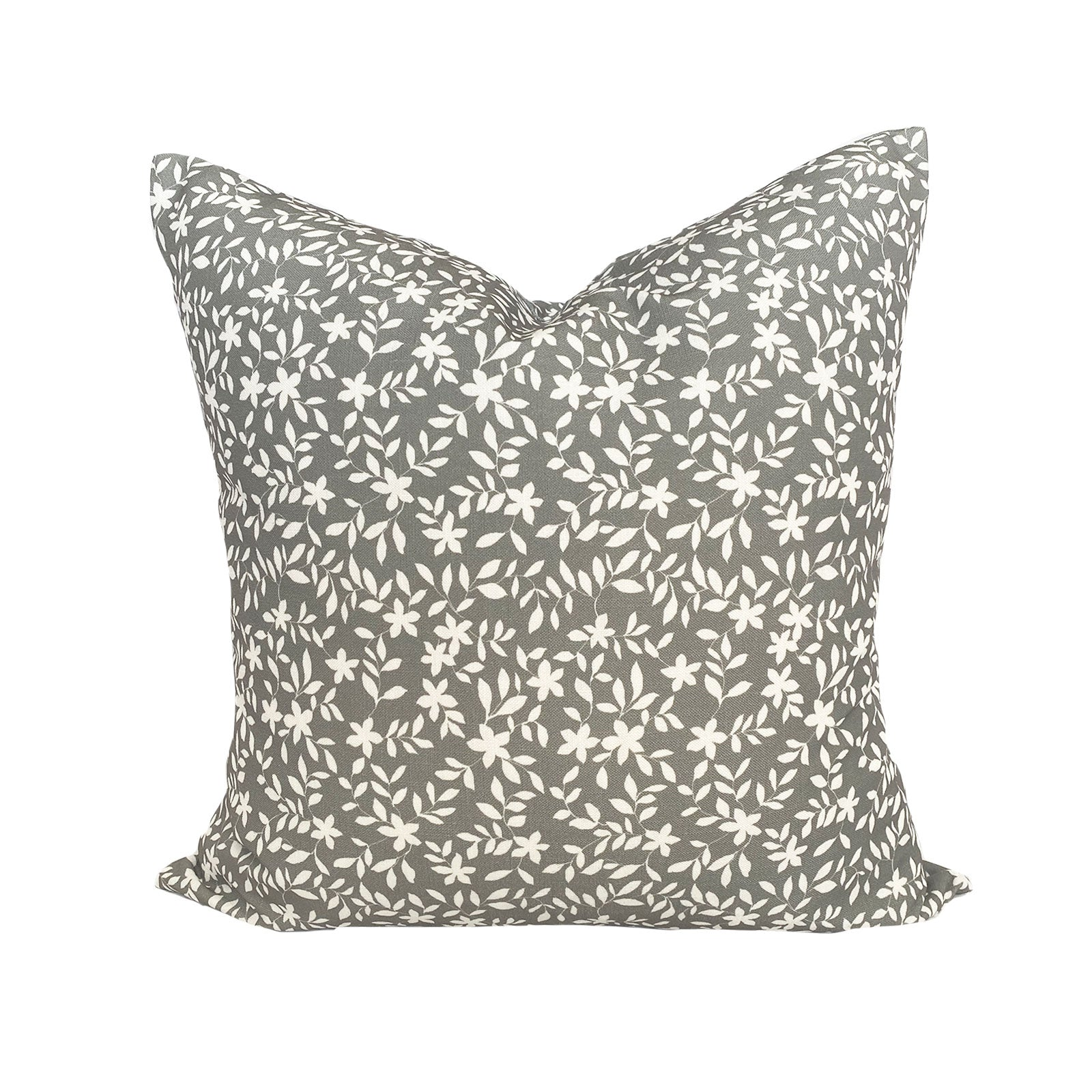 Jo Floral Pillow in Charcoal