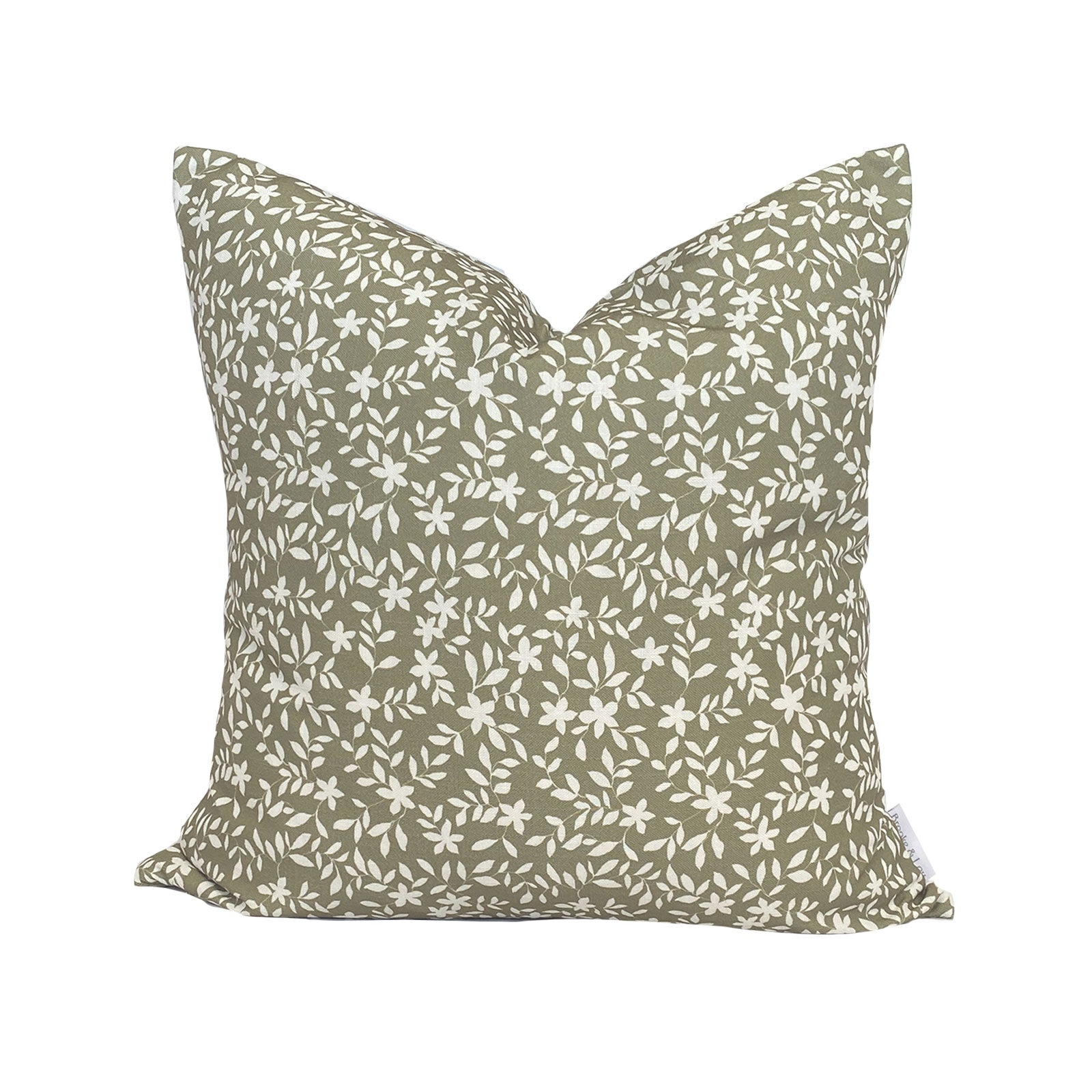 Jo Floral Pillow in Olive