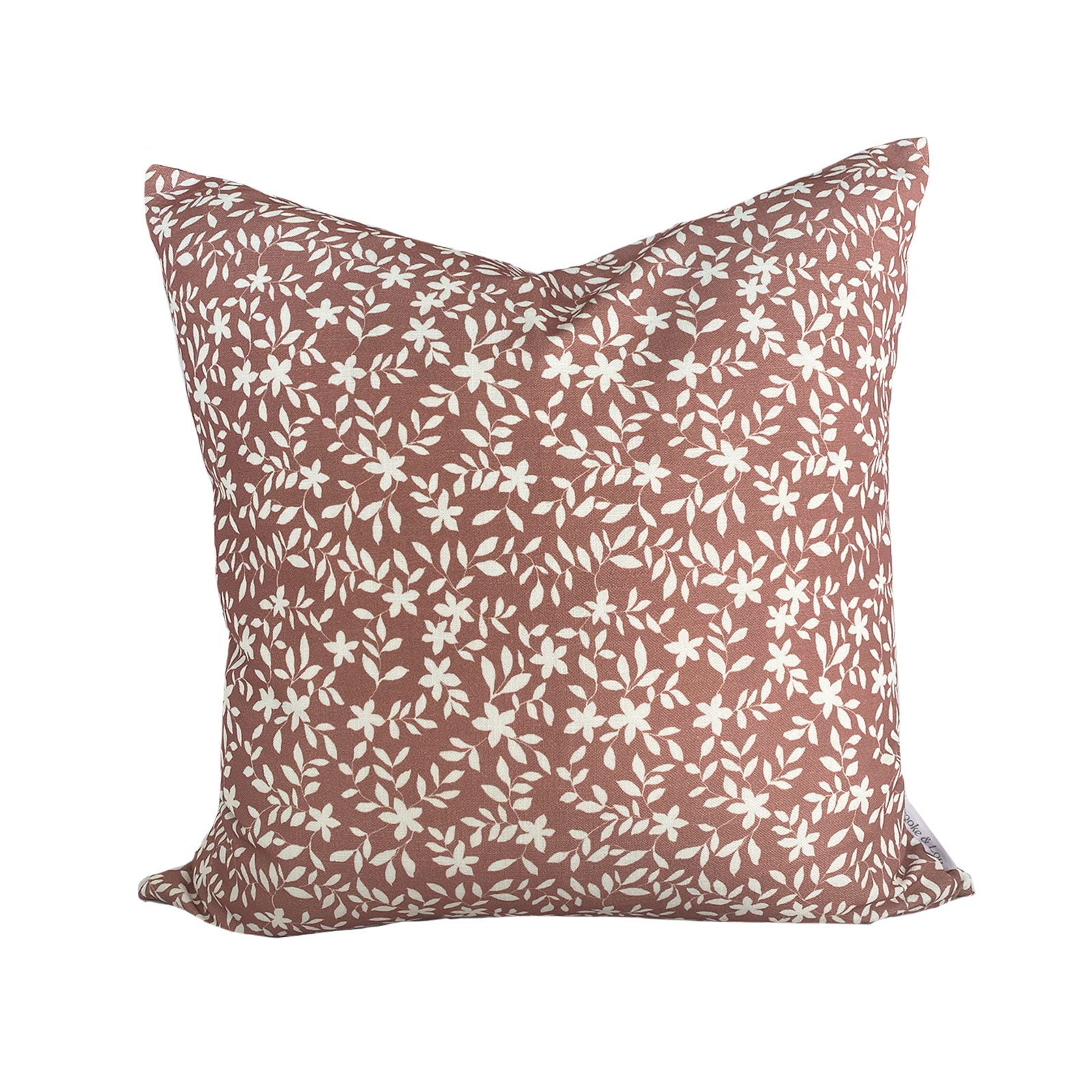 Jo Floral Pillow in Rose