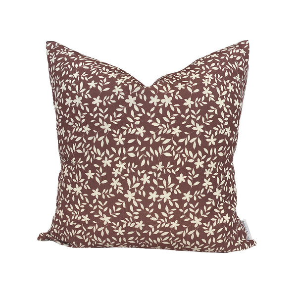Jo Floral Pillow in Ruby