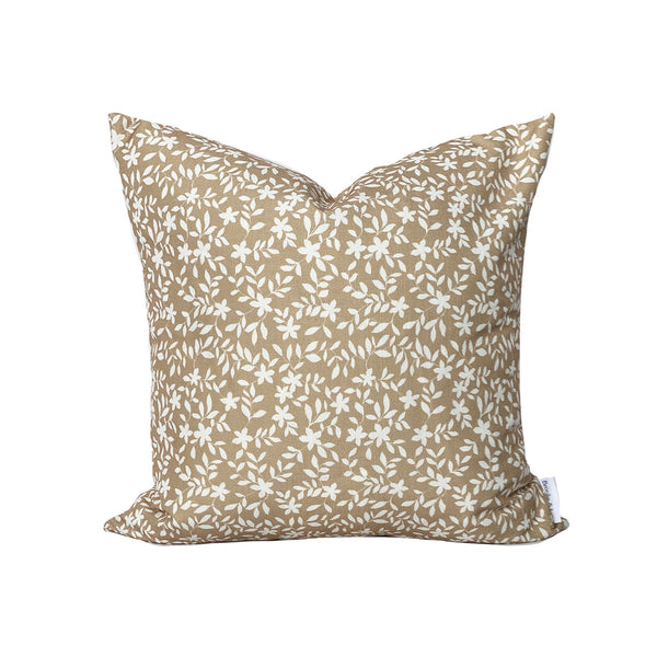 Jo Floral Pillow in Camel