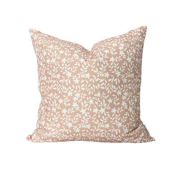 Jo Floral Pillow in Soft Coral