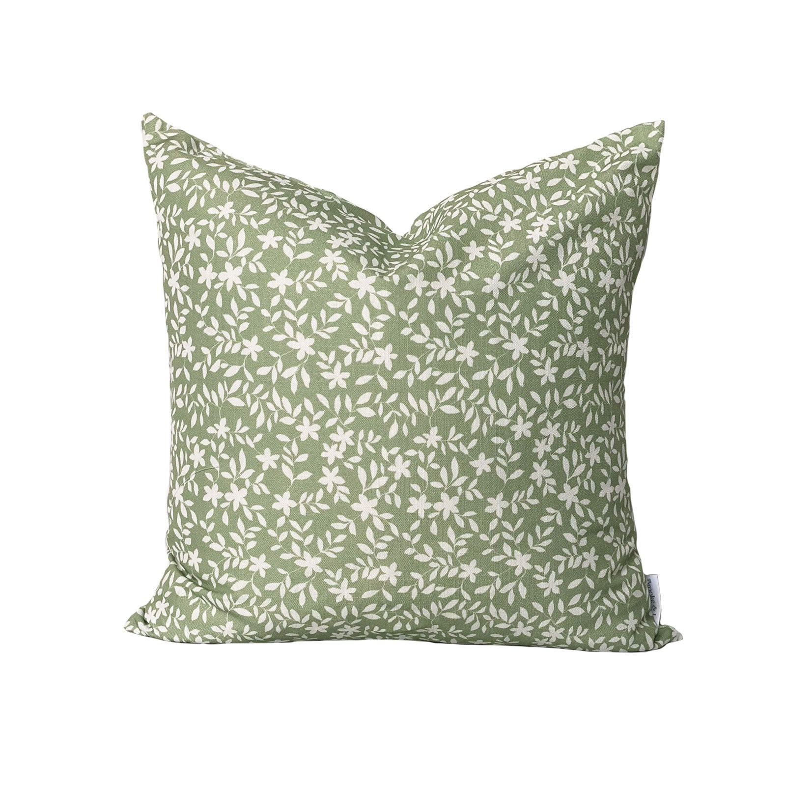 Jo Floral Pillow in Sage