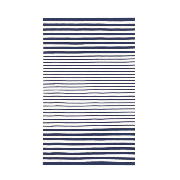 Jonathon Stripe Indoor Outdoor Rug in Navy
