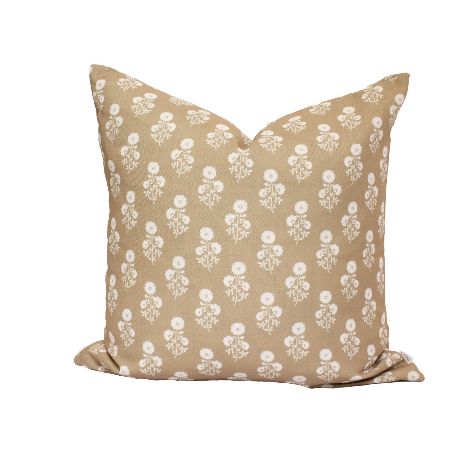 Julia Floral Pillow in Camel