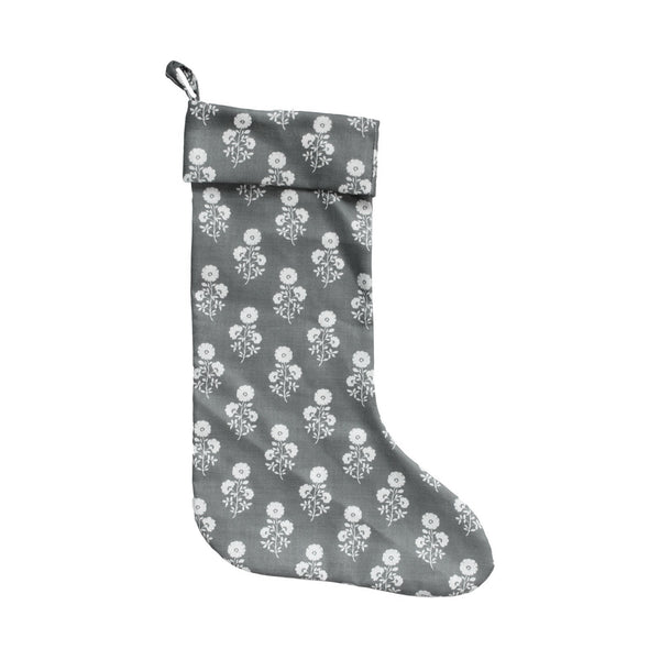 Julia Floral Stocking in Charcoal