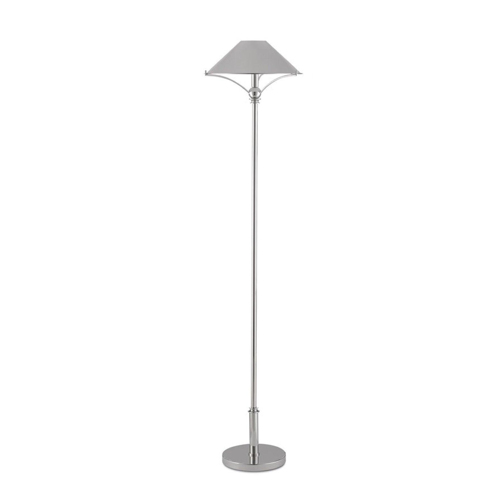 June Floor Lamp in Nickel
