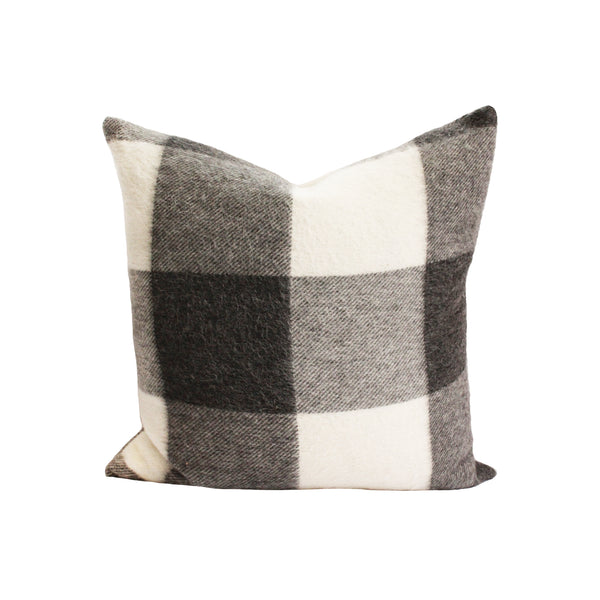 Kennedy Wool Pillow Cover in Smoke