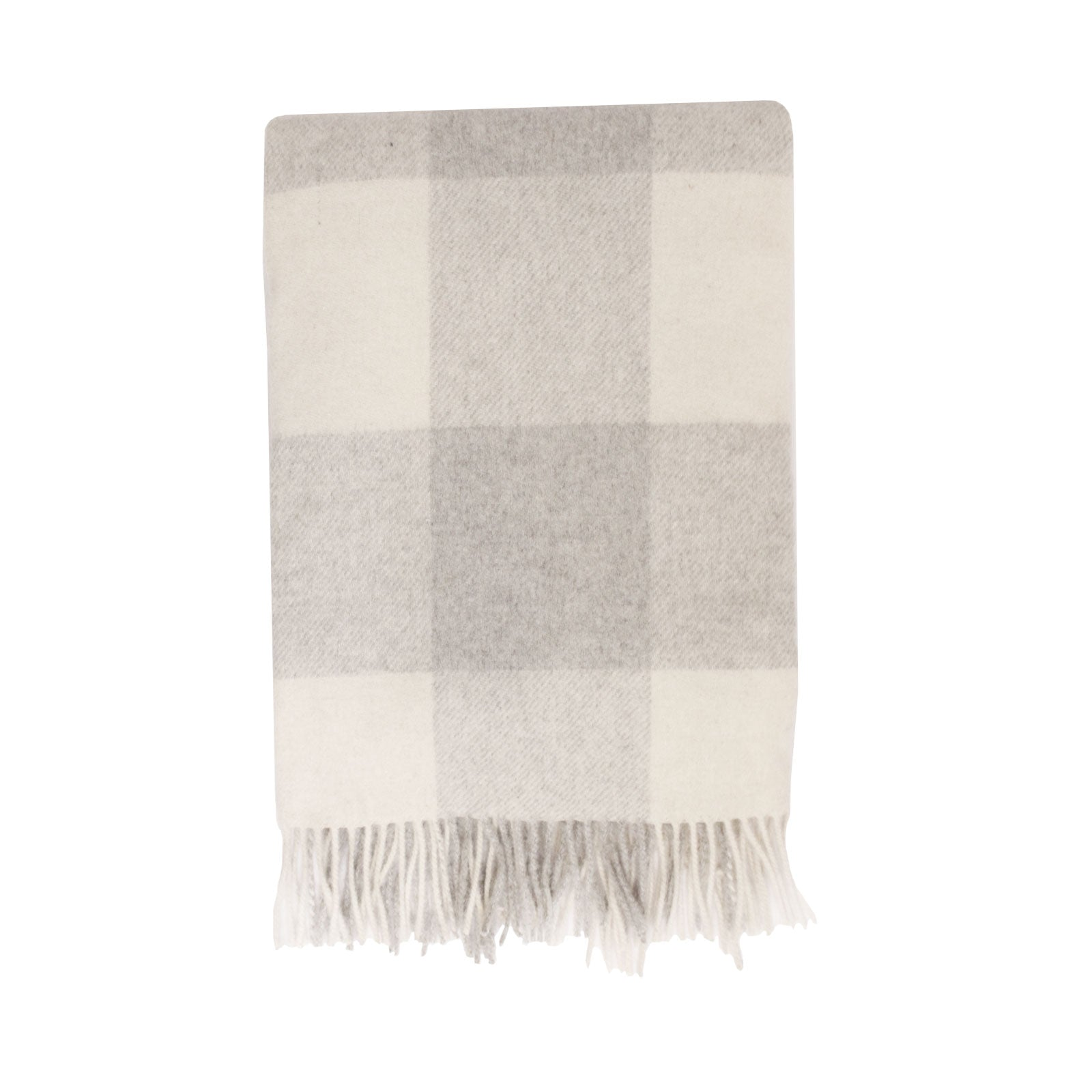 Kennedy Wool Throw in Snow