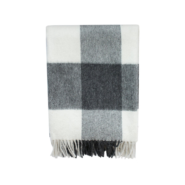 Kennedy Wool Throw in Smoke