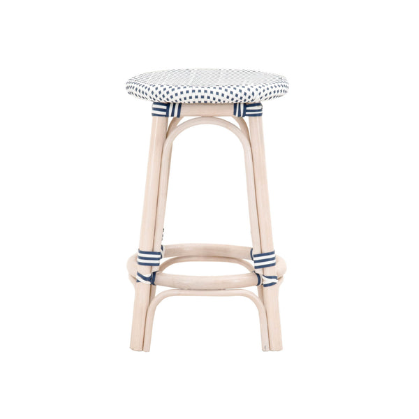 Kensington Backless Counter Stool in White