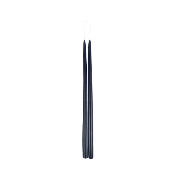 Large Navy Taper Candle
