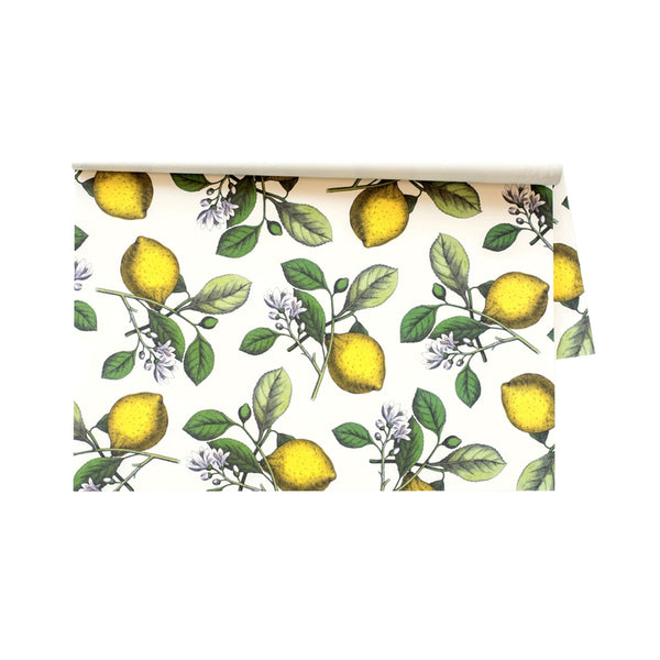 Lemon Sprigs Paper Placemats - 24 Sheets