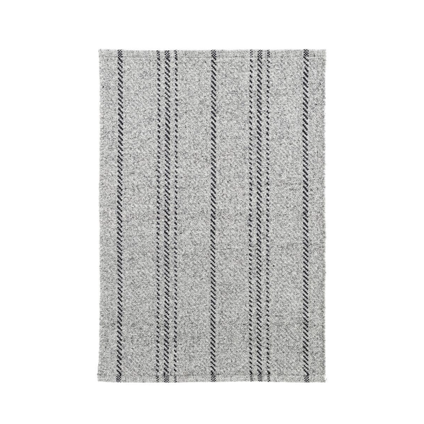 Lewis Indoor Outdoor Rug in Grey and Black