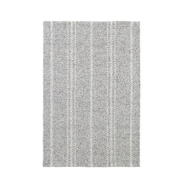 Lewis Indoor Outdoor Rug in Grey and Ivory