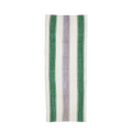 Lilac and Green Striped Vintage Rug