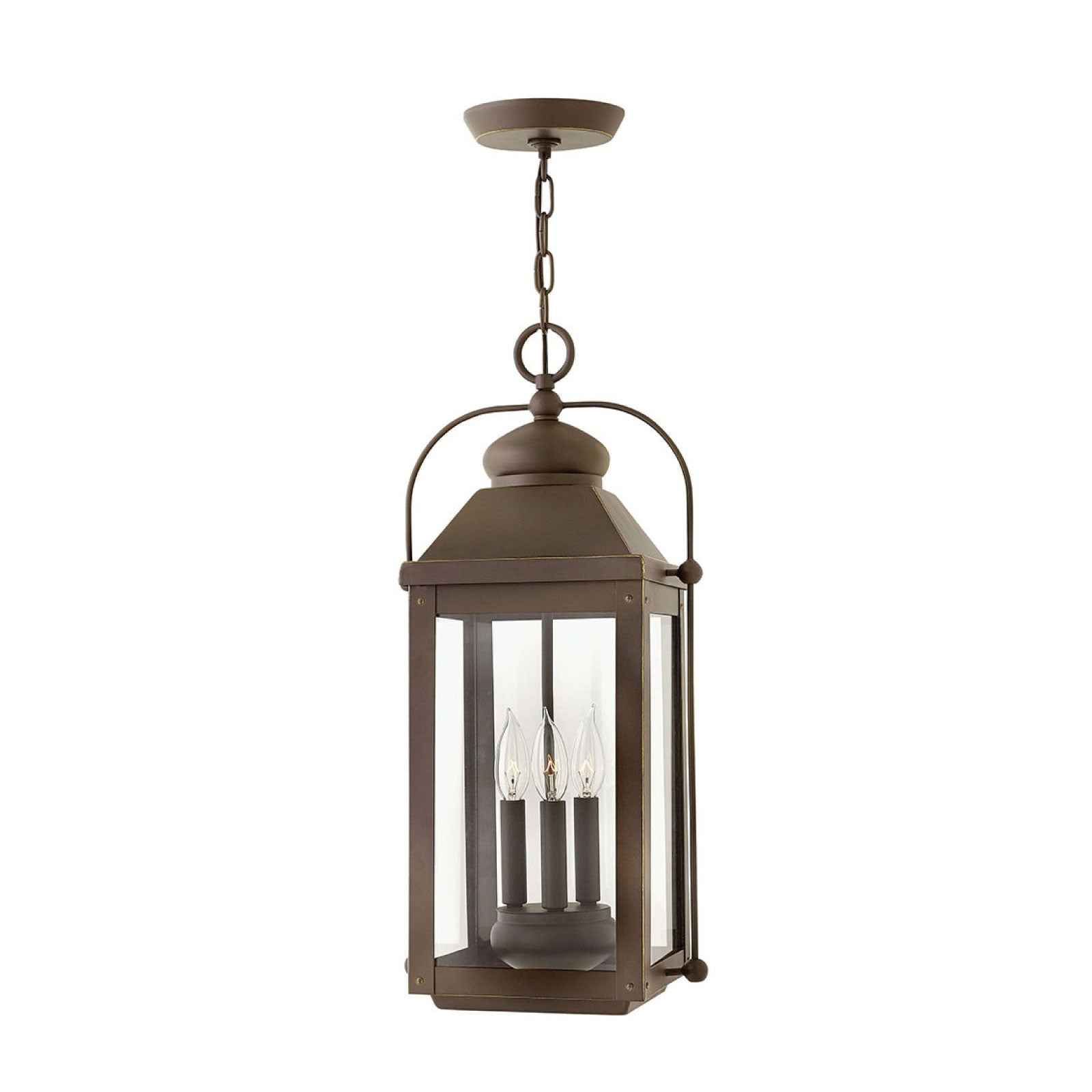Lincoln Hanging Lantern in Oiled Bronze