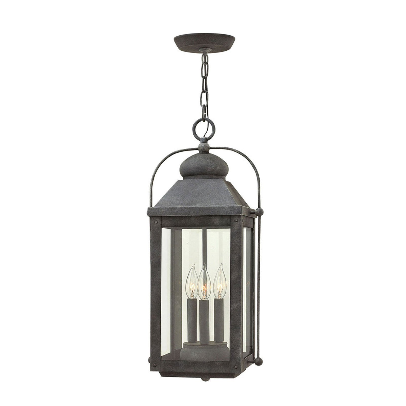 Lincoln Hanging Lantern in Zinc