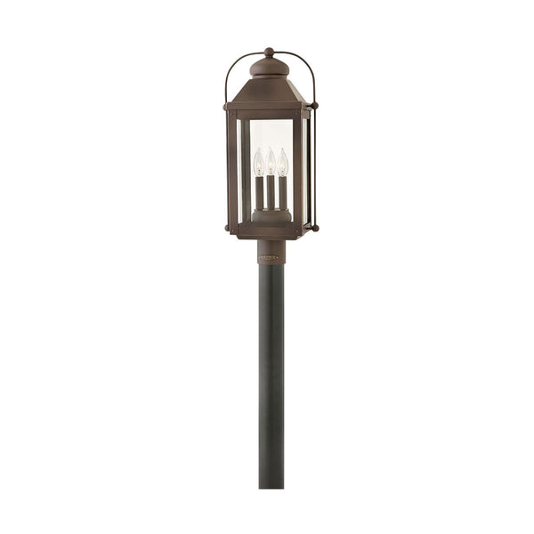 Lincoln Post Lantern in Oiled Bronze
