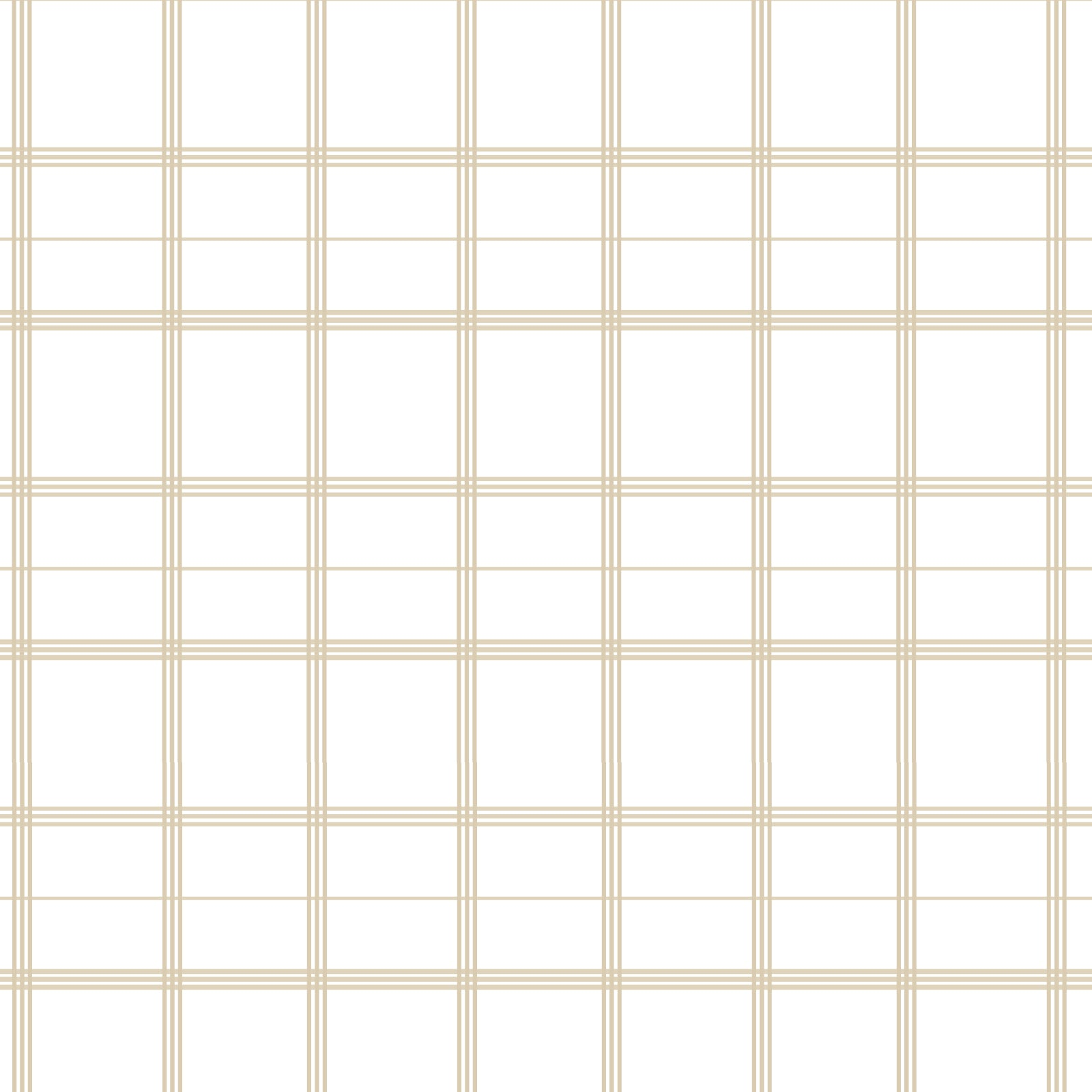 Linden Plaid Fabric in Natural