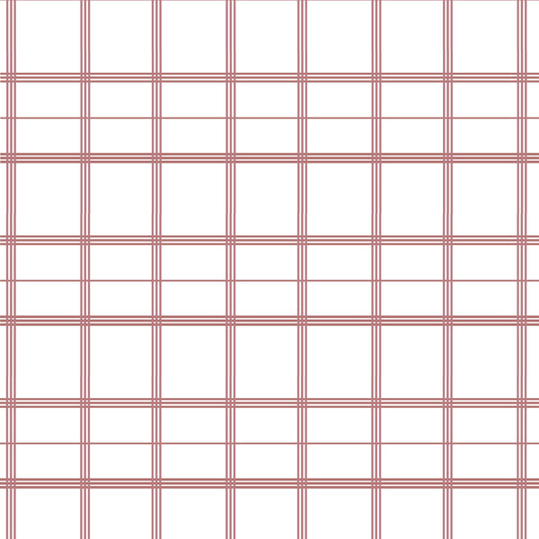 Linden Plaid Fabric in Rose