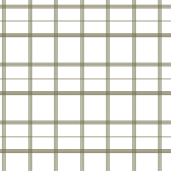 Linden Plaid Fabric in Olive