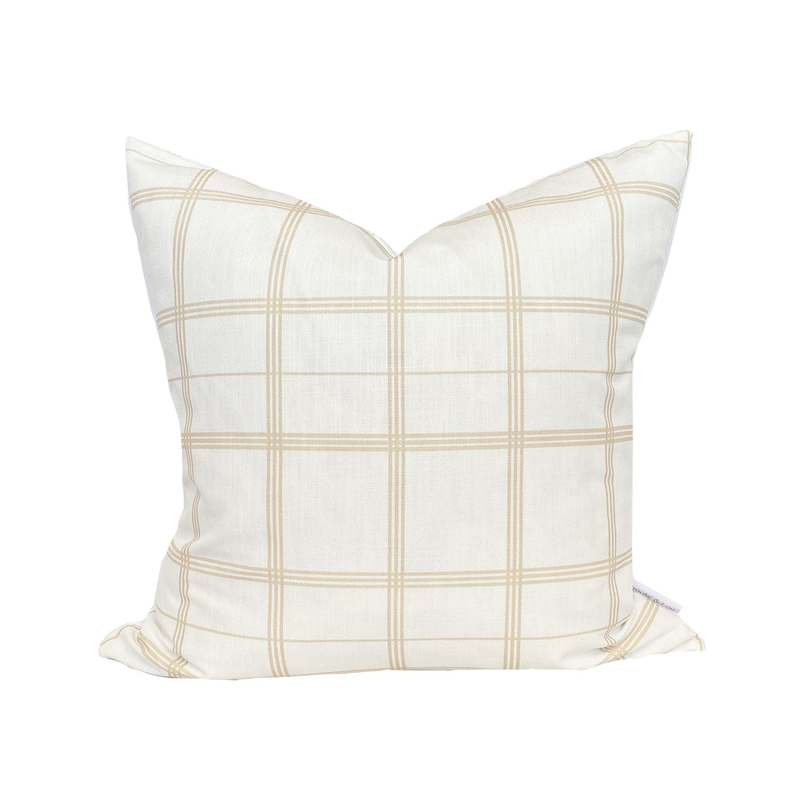 Linden Plaid Pillow in Natural