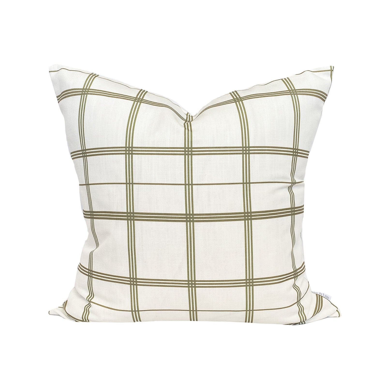 Linden Plaid Pillow in Olive